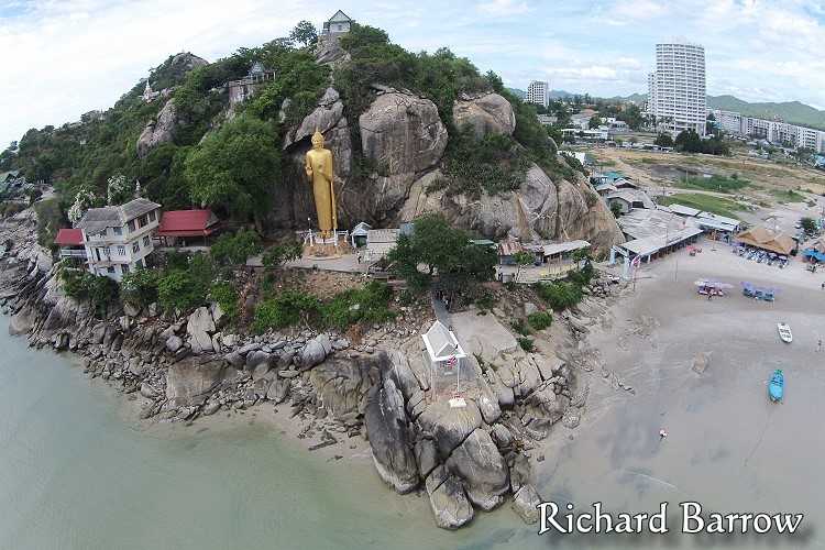 Standing Buddha at Khao Takiab Beach