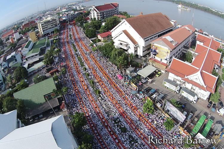 Mass Alms Round in Samut Prakan