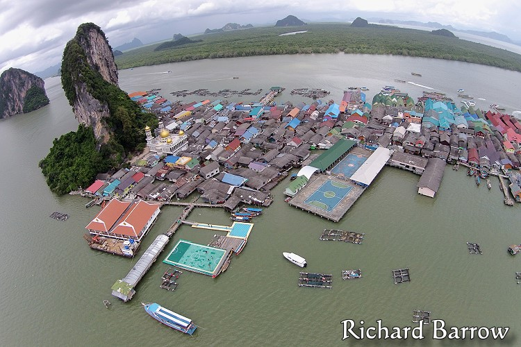 Koh Panyi Floating Village – Thailand from Above