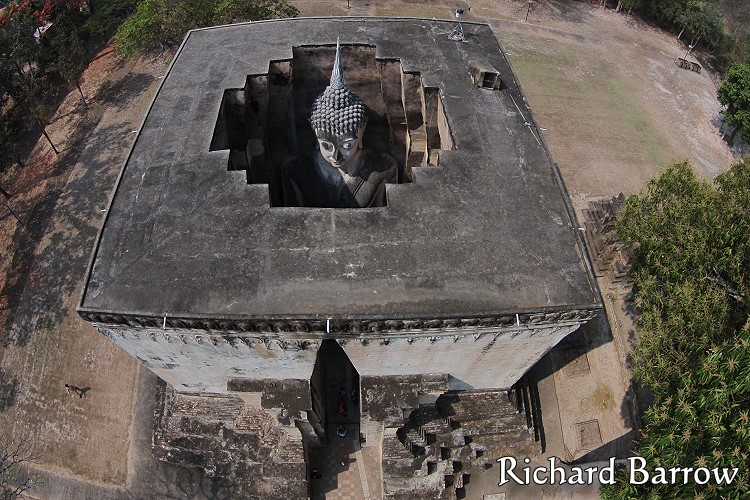 Wat Si Chum in Sukhothai Historical Park – Thailand from Above